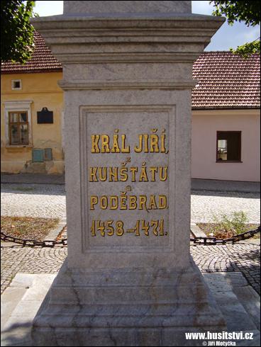 Kunštát – památník Jiřího z Poděbrad