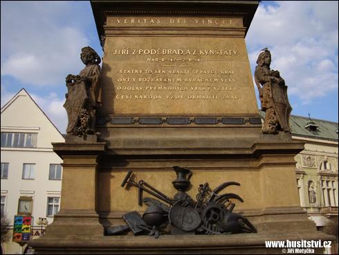 Poděbrady – pomník Jiřího z Poděbrad
