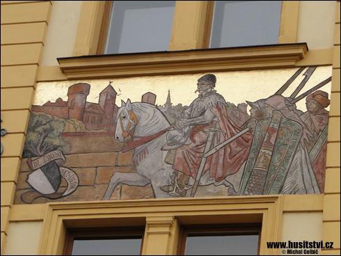 Písek – obraz husitských bojovníků