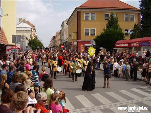 Táborské slavnosti, průvod Jana Žižky (Tábor, 2010)