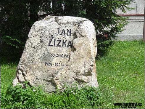 Vlašim – kámen v paměť Jana Žižky