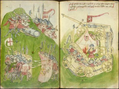 Vídeňský kodex (1. pol. 15. stol.) - Bitva husitů s křižáky