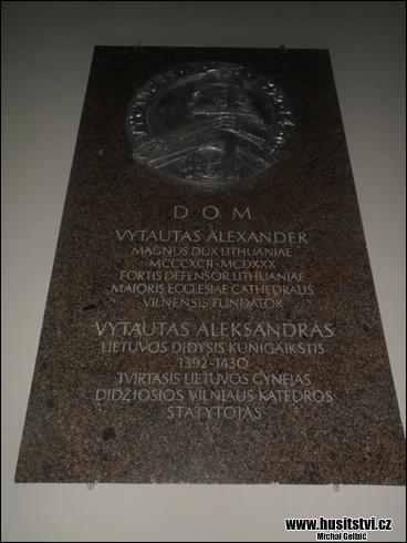 Vilnius (LT) – Katedrála na Katedrálním náměstí, místo uchování ostatků Vitolda Velikého