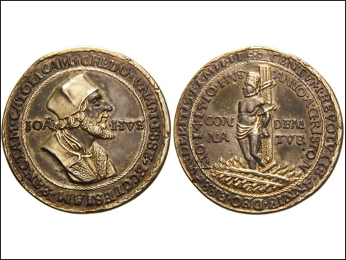 Krušnohorská medaile Jan Hus (16 stol.)