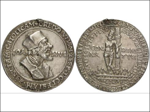 Krušnohorská medaile Jan Hus před r. 1530