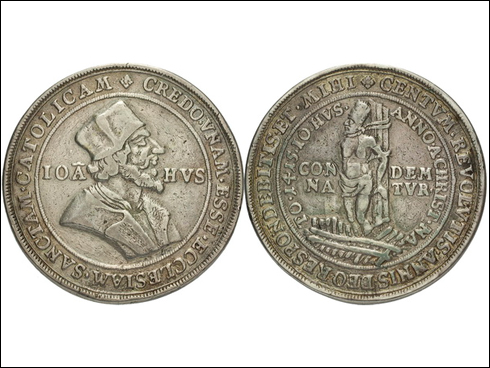 Krušnohorská medaile Jan Hus 1717