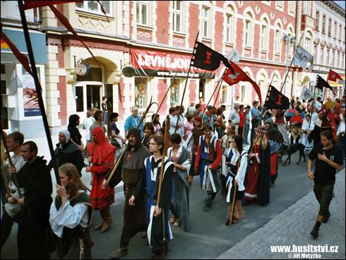 Táborské slavnosti, průvod Jana Žižky (Tábor, 2005)