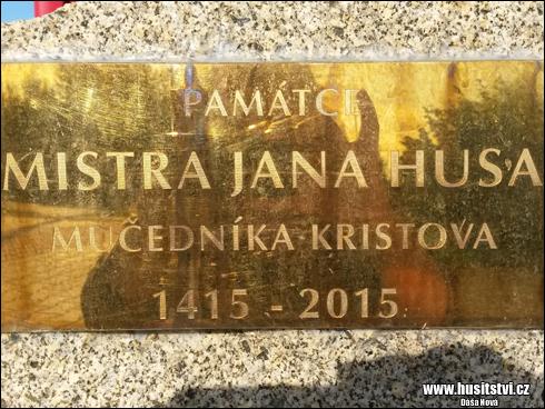Plzeň – Božkov - památce Jana Husa