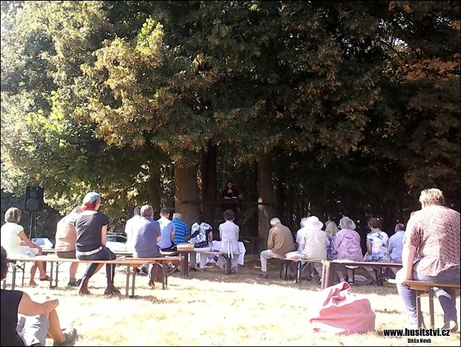 Výroční bohoslužba Českobratrské církve evangelické - Korandův sbor Plzeň (11.09.2016,  hora Bzí u Blovic)