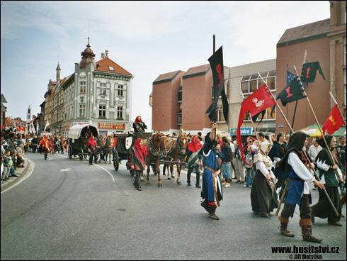 Táborské slavnosti, průvod Jana Žižky (Tábor, 2006)