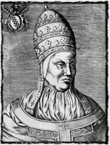 Římský papež Bonifác IX. (1389 - 1404), který roku 1393 udělil Čechům tzv. milostivé léto. copyright http://upload.wikimedia.org