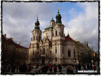 Praha - kostel sv. Mikuláše na Staroměstském náměstí. Zde působil a kázal Matěj z Janova.