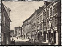 Pohled do Betlémského náměstí z roku 1869. Třetí dům zprava stál na místě Betlemské kaple. copyright http://upload.wikimedia.org