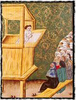 Hus v Betlémě. Jenský kodex (počátek 16. století). copyright http://img.radio.cz