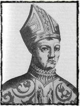 Vzdoropapež Jan XXIII., který silně ovlivnil Husovu causu. copyright http://upload.wikimedia.org