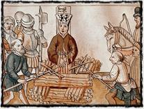 Husovo upálení dle kroniky Ulricha Richenthala z 15. století