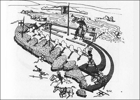 Husitská taktika boje - 2. fáze