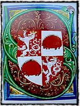 Znak horního města Jihlavy z Gelnhausenova kodexu, přelom 14. a 15. století (zdroj: Wikipedie).