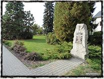 Současná Chotěboř (památník v r. 1421 povražděných husitů).