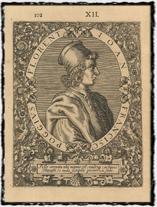 Poggio Bracciolini, očitý svědek Jeronýmova kostnického procesu (rytina z roku 1597).