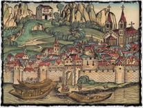 Kostnice (rytina z roku 1493).