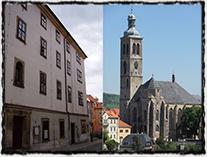 Cheb a Kutná Hora, dvě města, která tolik znamenala pro vítěznou českou reformaci (budova, kde byl uzavřen Chebský soudce a svého času utrakvistický kostel sv. Jakuba Staršího v Kutné Hoře)