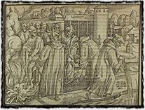 Spálení Wyclifových kostí (rytina ze 16. století)