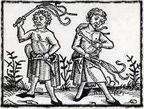 Sebemrskačství bylo ve středověku jedním z průvodních jevů zvýšené religiozity (dobové zobrazení)