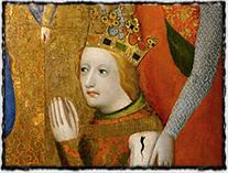 Mladý Václav IV. na votivním obraze Jana Očka z Vlašimi (druhá polovina 14. století)