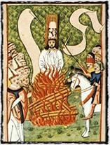 Hus na hranici (Jenský kodex, přelom 15. a 16. století)