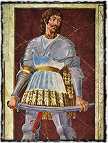 Válečník Pippo Spano, velitel I. křížové výpravy proti husitům (obraz z poloviny 15. století)