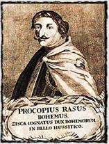 Prokop Holý na anonymním zobrazení ze 17. století