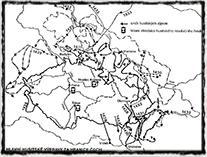 Hlavní husitské výpravy za hranice Čech, zdroj: Šmahel F. - Husitská revoluce 3 (Kronika válečných let)