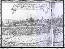 Plzeň na počátku 17. století; město bylo v nejen době husitských válek považováno za takřka nedobytné