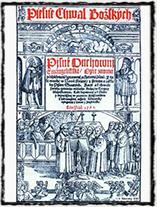 Titulní strana Kancionálu Šamotulského - redakce Jana Blahoslava z r. 1561.