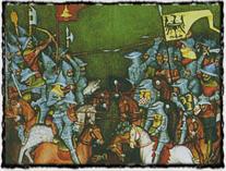 Výjev z bitvy u Lehnice r. 1241