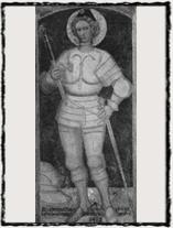 Italská plátová zbroj na obraze datovaném 1412