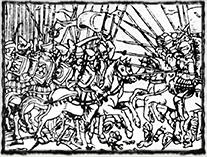 Vyobrazení nikopolské bitvy (neznámý autor, cca r. 1540)