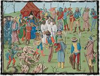 Poprava křesťanských zajatců Turky po bitvě u Nikopole
