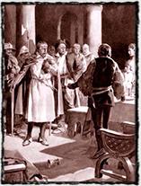 Zajetí Václava IV. roku 1394 (kresba Jan Goth)
