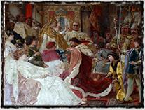 Korunovace Ladislava Neapolského uherským králem v Zadaru r. 1403