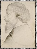Zcela unikátní dobová anonymní kresba Zikmundova profilu z počátku 20. let 15. století (dle odborníků se jedná o nejvěrnější zobrazení panovníka).