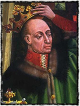 Král Vladislav II., velký Zikmundův sok z Polska (anonymní dílo z 2. poloviny 15. století).
